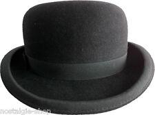 Melone, schwarz, Wolle Hut Wollfilz Steampank Gothic hat