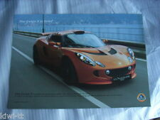 Lotus Exige S folleto/brochure/depliant, inglés/english edition