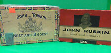 John Ruskin CIGAR BOX LOT Best And Biggest Perfecto Extra & 7 Cents Vintage Nice