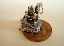 FAIRYTALE CASTLE - SLEEPING BEAUTY STERLING SILVER CHARM CHARMS
