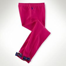 Ralph Lauren Girls Bow Back Legging Currant Sz XL (16) - NWT
