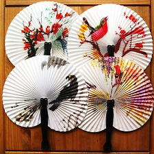 Paper Hand Fan Folding Wedding Party Favor Decoration Colorful 1PC