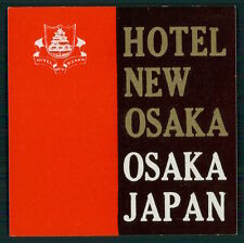 NEW OSAKA Hotel luggage label OSAKA Japan