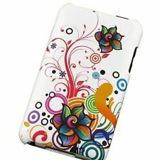 Design Crystal Hard Case for iPod Touch 2nd/3rd Gen - White Autumn Flower
