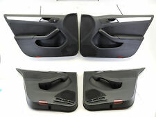 MK6 VW JETTA GLI DOOR CARDS LEATHER AUTOBAHN BLACK PANELS COVERS TRIM SET -637