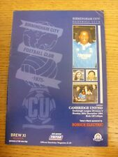 26/12/1994 Birmingham City v Cambridge United  (Creased). Trusted sellers on eba