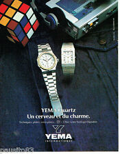 PUBLICITE ADVERTISING  016  1981  Yema International montres Quartz