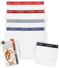 NEW - 5 CALVIN KLEIN BRIEFS - CLASSIC FIT - WHITE - COLOR WB - MEDIUM (32-34)