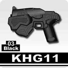 KHG11 (W105) Black Pistol compatible with toy brick minifigures Army Post Apoc