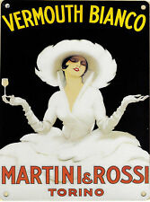 New 30x40cm MARTINI VERMOUTH BIANCO vintage enamel style metal advertising sign