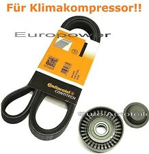 V-ribbed belts + Tension pulley For BMW Z4 E85 2.2/2.5/3.0 New
