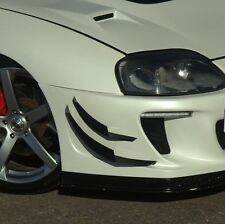 Toyota Supra Front Bumper Canards 4pcs fits most Bumpers v4