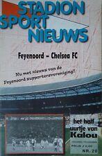 Programm UEFA CL 1999/00 Feyenoord - Chelsea FC
