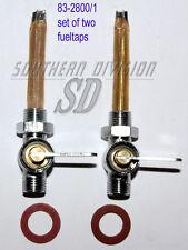2 stk Benzinhahn Triumph BSA Norton 2 fuel taps 1/4G 83-2800 83-2801 F12800 /1
