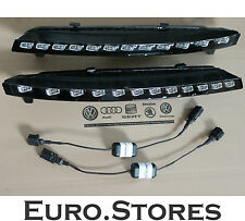 Audi Q7 Facelift LED Front Blinkers Turn Signals + Adapter Cables Genuine