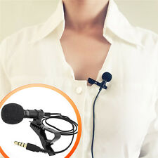 Pro Lapel Ties Clip-on Wire Condenser Karaoke Microphone Mic For iPhone Android
