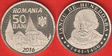 """Romania 50 bani 2016 """"Iancu de Hunedoara"""" UNC"""