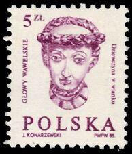 "POLAND 2628A (Mi2986) - Sculptures ""Woman Wearing Wreath"" (pf31327)"