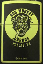 Zippo Gas Monkey Garage Neon Yellow Finish Windproof Lighter 28887CI400690 *NEW*
