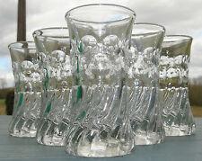 Service de 6 gobelets (verres à absinthe) en verre moulé, XIXe s.