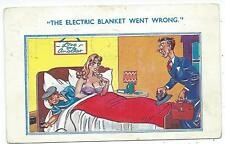 """COMIC - """"THE ELECTRIC BLANKET WENT WRONG"""" Marks Postcard"""