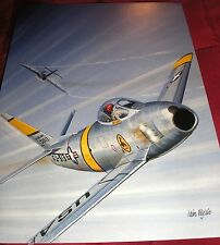 Combat Aircraft F-86F Sabre Korean War  Large Postcard