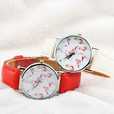 Women Geneva New Fashion Leather Analog Stainless Steel Quartz Wrist Watch