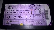 TICKET : RSC ANDERLECHT - STVV 22-01-2017