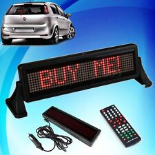 Car 12V LED Message Sign Moving Scrolling Mini Display Board With Remote Control