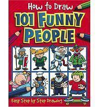 How to Draw 101 Funny People by , Good Book