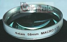 58mm Macro +10 Close-Up Lens Filter For  SLR DSLR Film Digital Silver 58 mm