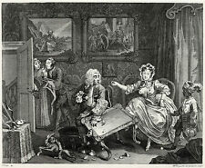 Hogarth Print Reproductions: A Harlot's Progress, Plate 2: Fine Art Print