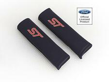 Ford Focus ST Car Seatbelt Pads Covers Black Fabric With Logo Pair By Richbrook