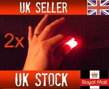 2x Magic Light up thumbs fingers RED party trick