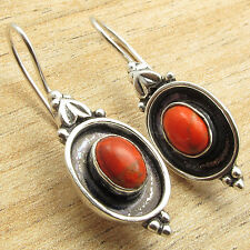 Only $0.99 Vintage Fashion 925 Silver Plated ORANGE COPPER TURQUOISE Earrings