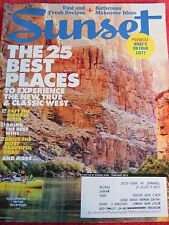 SUNSET MAGAZINE FEBRUARY 2015 BEST PLACE IN THE WEST RAFTING WINE NATURE ROAD