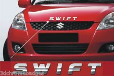 chrome lettering stickers badge emblem for maruti suzuki swift bonnet stickers