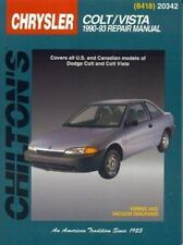 Dodge: Colt Vista 1990-93 (Chilton's Total Car Care Repair Manual)-ExLibrary
