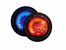 """Universal Boost Gauge with Sensors (Blue and Amber Color, 2.5"""" / 60mm)"""