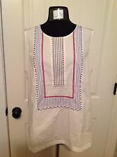 J.CREW SLEEVELESS BEADED ZIP TOP - SIZE 14 - SOLD OUT!!