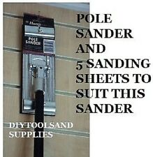 HARRIS PREMIER QUALITY SWIVEL POLE SANDER PLASTERING SANDING BOARD & 5 SHEETS