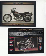 1972 HARLEY-DAVIDSON FX Super Glide 74ci V-Twin Motorcycle Photo TRADING CARD