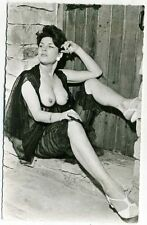 Original Rare.Brunette Seductress.See-Through Negligee.Risque Pinup.Old Photo.