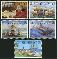Guernsey 436-440,MNH.Lord Anson's Circumnavigation of the World, 250th ann.,1990