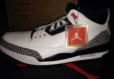 Nike Air Jordan Retro 3 III INFRARED White Black 23 OVO Supreme Cement 88 Sz 16