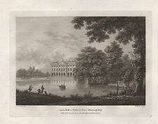 1786 ANTIQUE PRINT SEATS OF THE NOBILITY -WATTS-CHESHIRE-LYME HALL
