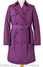 GORGEOUS DB Aquascutum Purple WADDED Raincoat uk8 rrp £450 BNWT