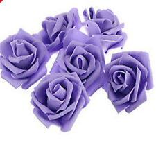 10-500pcs Colourfast Foam Roses Artificial Flower Wedding Bride Bouquet Party