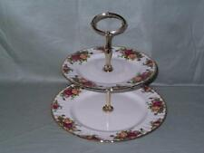 Royal Albert Old Country Roses 2-Tier Cake Stand (Not English)