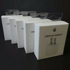 5x Genuine Original Apple Wall AC Charger Adapter USB Cube 5W New w/ Retail Box